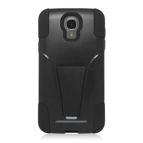 Insten Hybrid Stand PC/Silicone Case For Samsung ATIV SE W750V Huron, Black