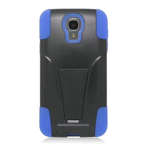 Insten Hybrid Stand PC/Silicone Case For Samsung ATIV SE W750V Huron, Black/Blue