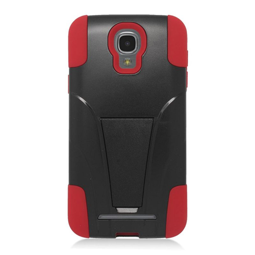 Insten Hybrid Stand PC/Silicone Case For Samsung ATIV SE W750V Huron, Black/Red
