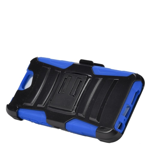 Insten Dual Layer Hybrid Stand PC/Silicone Holster Case Cover Compatible With HTC One A9, Black/Blue