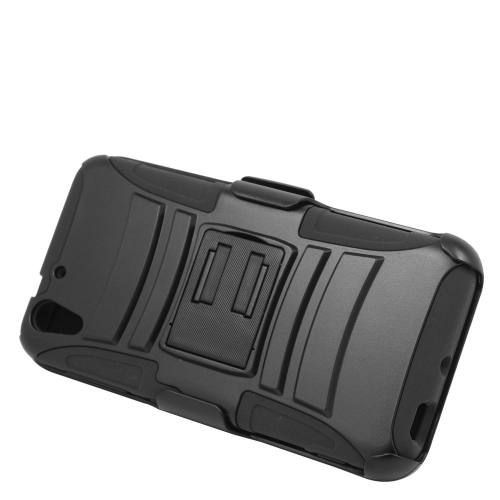 Insten Dual Layer Hybrid Stand PC/Silicone Holster Case Cover Compatible With HTC Desire Eye, Black
