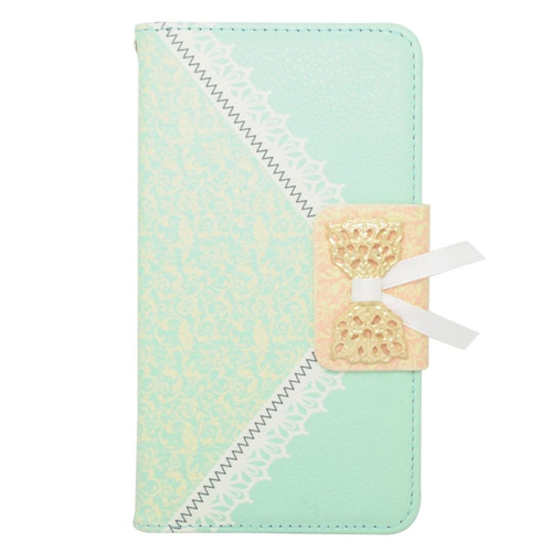 Insten Book-Style Leather Fabric Case w/stand/card holder For Samsung Galaxy Note 4, Green/Gold