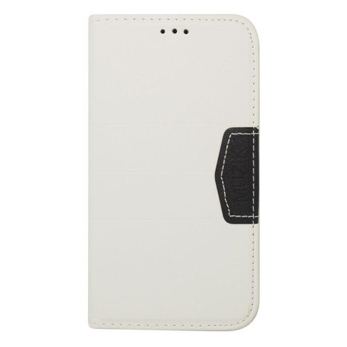 Insten Flip Leather Fabric Cover Case w/card holder For Samsung Galaxy S5, White/Black
