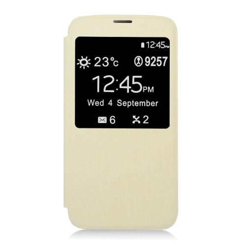 Insten Wallet Case for Samsung Galaxy S5 - White