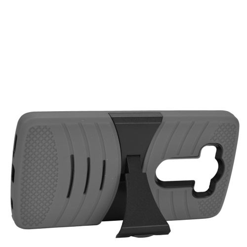 Insten Wave Hybrid Stand Rubber Silicone/PC Case For LG V10, Gray/Black