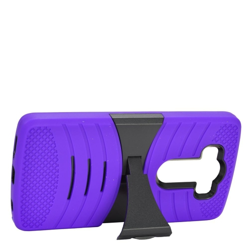 Insten Wave Hybrid Stand Rubber Silicone/PC Case For LG V10, Purple/Black