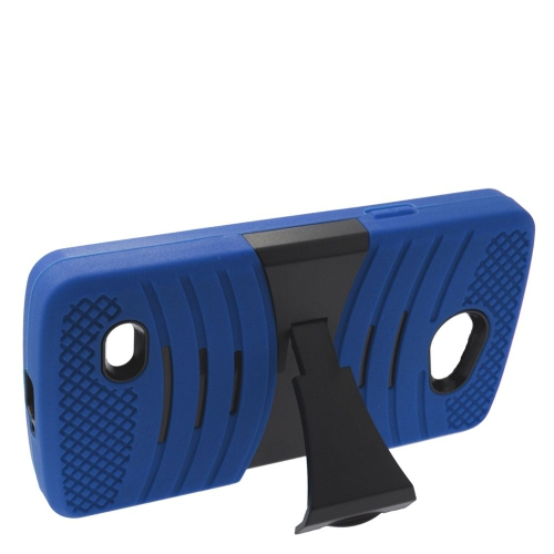 Insten Wave Hybrid Stand Rubber Silicone/PC Case For LG Lancet VW820, Blue/Black