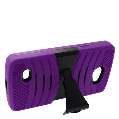 Insten Wave Hybrid Stand Rubber Silicone/PC Case For LG Lancet VW820, Purple/Black