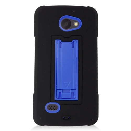 Insten Hybrid Stand Rubber Silicone/PC Case For LG Lancet VW820, Black/Blue