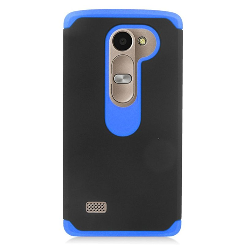 Insten Hybrid Hard Case For LG Destiny/Leon 4G LTE H340N/Power/Risio/Tribute 2, Black/Blue