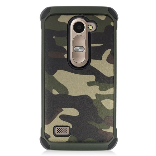 Insten Camouflage Hybrid Hard Case For LG Destiny/Power/Risio/Tribute 2, Green/Black
