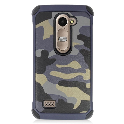 Insten Camouflage Hybrid Hard Case For LG Destiny/Power/Risio/Tribute 2, Gray/Black
