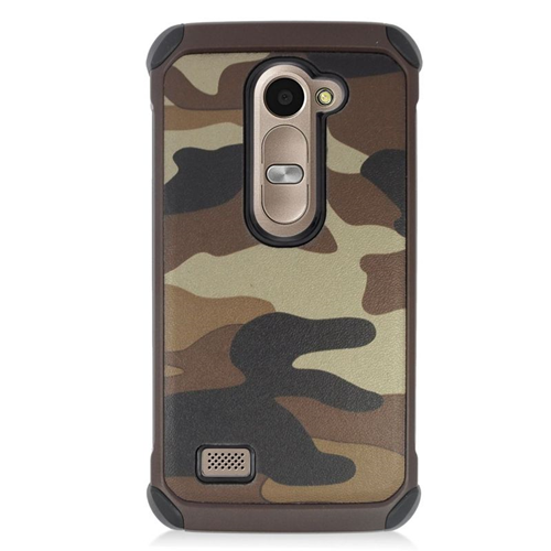 Insten Camouflage Hybrid Hard Case For LG Destiny/Leon 4G LTE H340N/Power/Risio/Tribute 2, Brown