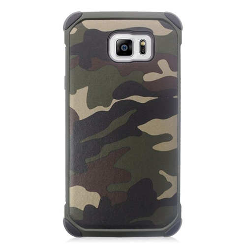 Insten Camouflage Hybrid Rubberized Hard PC/Silicone Case For Samsung Galaxy Note 5, Green/Black