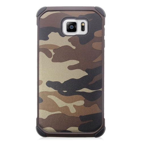 Insten Camouflage Hybrid Rubberized Hard PC/Silicone Case For Samsung Galaxy Note 5, Brown/Black