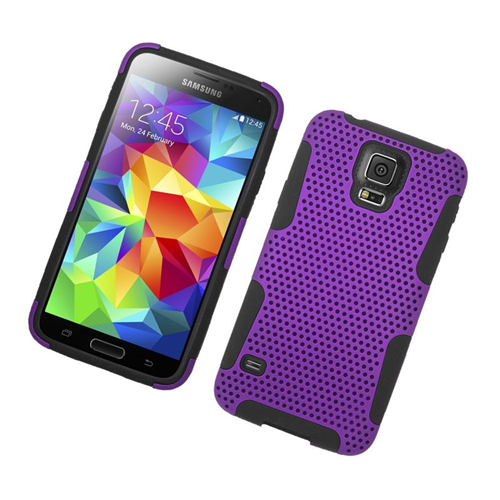 Insten Astronoot Hybrid PC/TPU Rubber Case For Samsung Galaxy S5 SM-G900, Purple/Black