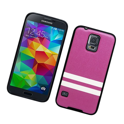 Insten Leather Case Cover Compatible With Samsung Galaxy S5 SM-G900, Purple/Black
