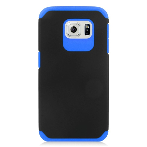 Insten Hybrid Rubberized Hard PC/Silicone Case For Samsung Galaxy S6 SM-G920, Black/Blue