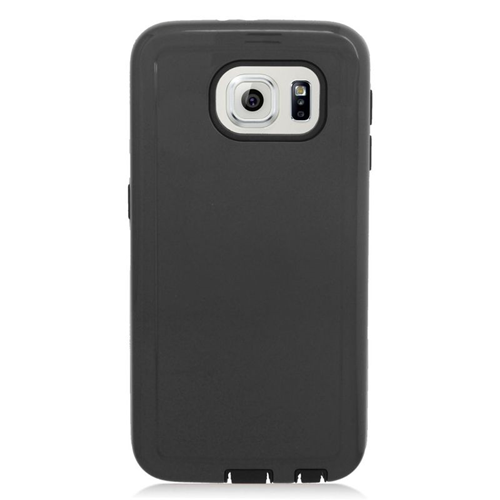 Insten Hybrid Rubberized Hard PC/Silicone Case For Samsung Galaxy S6 SM-G920, Black