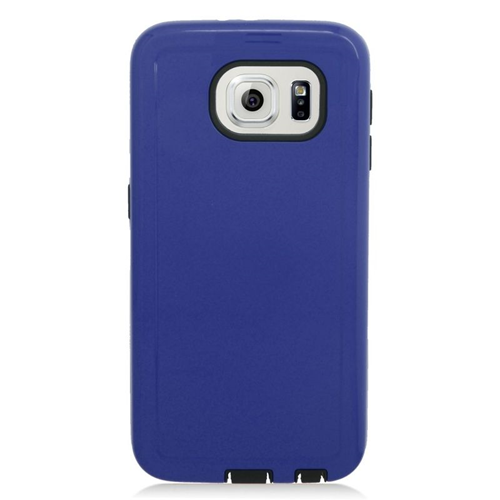 Insten Hybrid Rubberized Hard PC/Silicone Case For Samsung Galaxy S6 SM-G920, Blue/Black