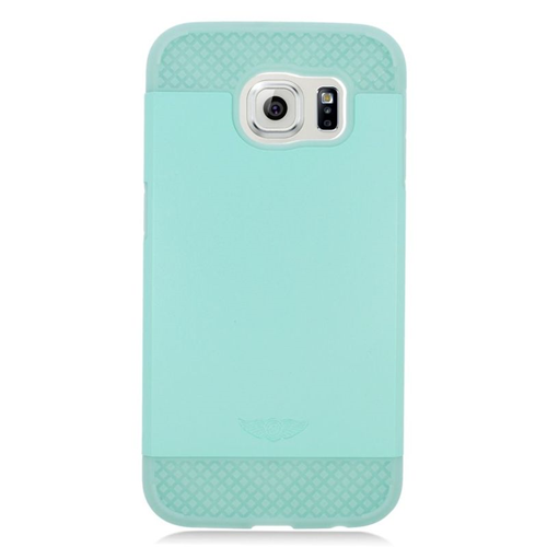 Insten Hybrid Rubberized Hard PC/Silicone Case For Samsung Galaxy S6 SM-G920, Mint