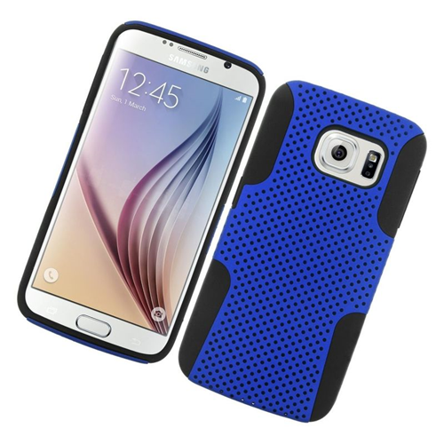 Insten Astronoot Hybrid PC/TPU Rubber Case For Samsung Galaxy S6 SM-G920, Blue/Black