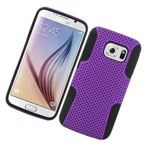 Insten Fitted Soft Shell Case for Samsung Galaxy S6 - Black;Purple