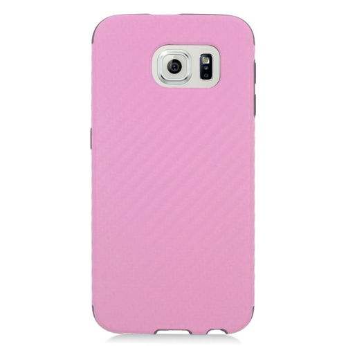 Insten Fitted Soft Shell Case for Samsung Galaxy S6 - Pink;Black