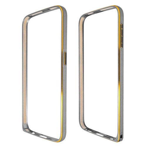 Insten Metal Aluminum Bumper Case Cover Compatible With Samsung Galaxy S6 SM-G920, Gray