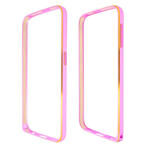 Insten Metal Aluminum Bumper Case Cover Compatible With Samsung Galaxy S6 SM-G920, Hot Pink