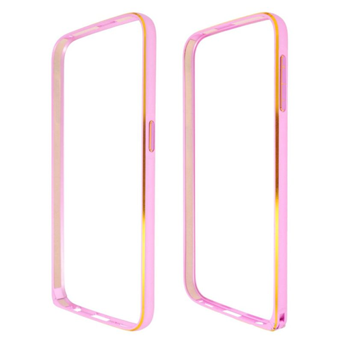 Insten Metal Aluminum Bumper Case Cover Compatible With Samsung Galaxy S6 SM-G920, Pink
