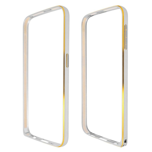 Insten Metal Aluminum Bumper Case Cover Compatible With Samsung Galaxy S6 SM-G920, Silver