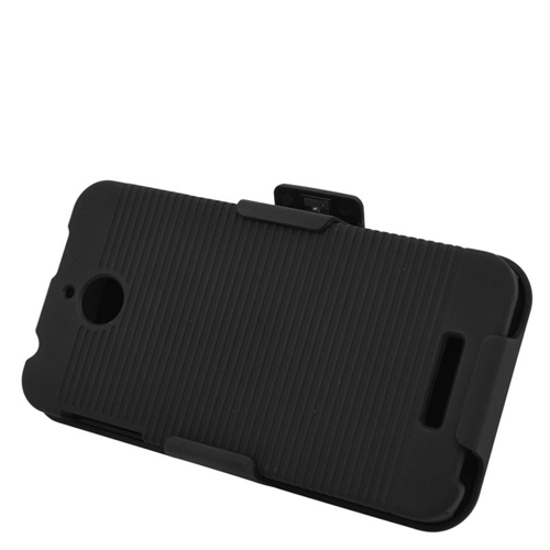 Insten Rubberized Hard Snap-in Holster Case Cover Compatible With HTC Desire 510, Black