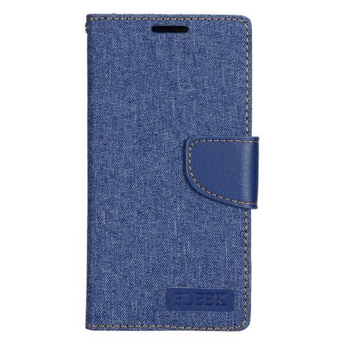 Insten Folio Leather Case w/stand/card holder/Photo Display For Samsung Galaxy S7 Edge, Dark Blue
