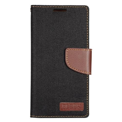 Insten Flip Leather Case w/stand/card holder/Photo Display For Samsung Galaxy S7 Edge, Black/Brown