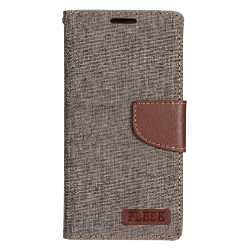 Insten Leather Fabric Case w/stand/card slot/Photo Display For Samsung Galaxy S7 Edge, Brown