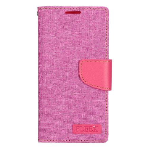 Insten Leather Fabric Case w/stand/card slot/Photo Display For Samsung Galaxy S7 Edge, Pink
