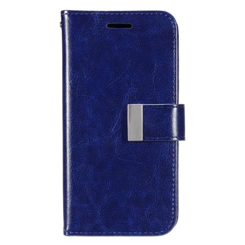 Insten Leather Fabric Case w/card slot/Photo Display For Samsung Galaxy S7 Edge, Dark Blue