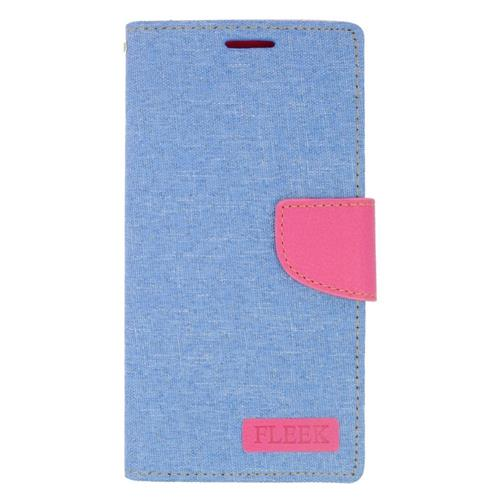 Insten Flip Leather Case w/stand/card slot For Samsung Galaxy S6 Edge Plus, Light Blue/Pink