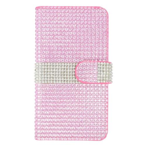 los angeles c1fc8 e0040 Insten Wallet Case for Samsung Galaxy S6 Edge Plus - Hot Pink;Silver