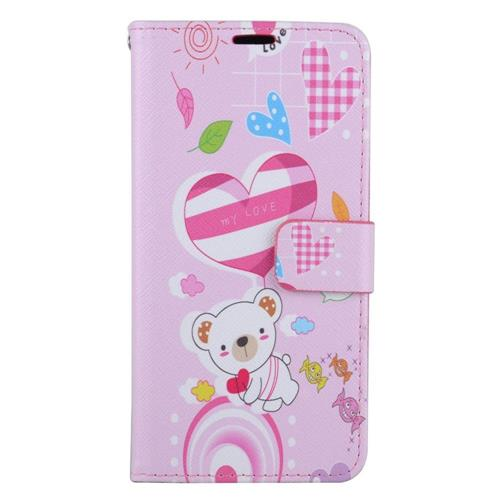 Insten Bear Leather Case w/stand/card holder/Photo Display For Samsung Galaxy S6 Edge Plus, Colorful