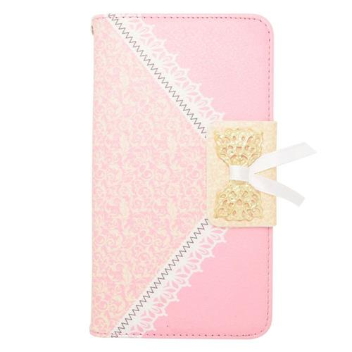 Insten Flip Leather Fabric Case w/stand/card holder For Samsung Galaxy Note 4, Pink/Gold