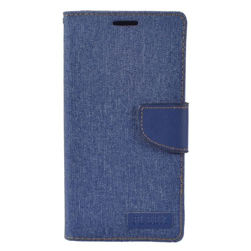 Insten Flip Leather Fabric Case w/stand/card holder/Photo Display For LG V10, Dark Blue