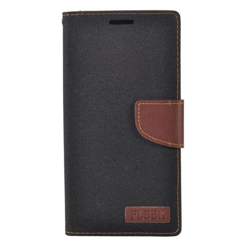 Insten Flip Leather Fabric Case w/stand/card holder/Photo Display For LG V10, Black/Brown