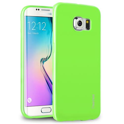 Insten Jelly TPU Rubber Candy Skin Case Cover Compatible With Samsung Galaxy S6 Edge, Green