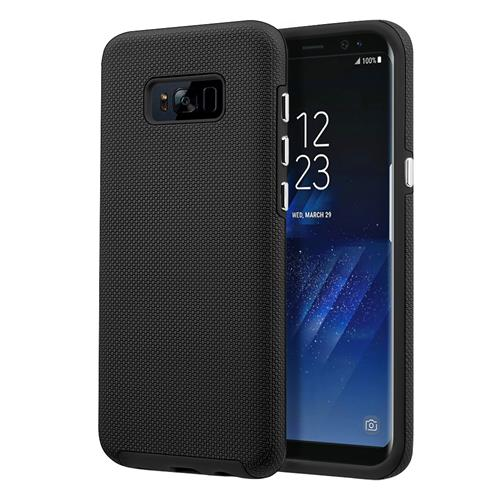 Insten PC/TPU Rubber Case Cover Compatible With Samsung Galaxy S8, Black