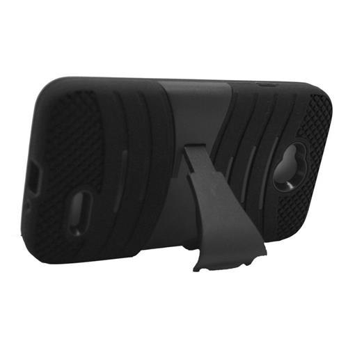 Insten Hybrid Case For LG Optimus Exceed 2 VS450PP Verizon/Optimus L70 MS323/Realm LS620, Black