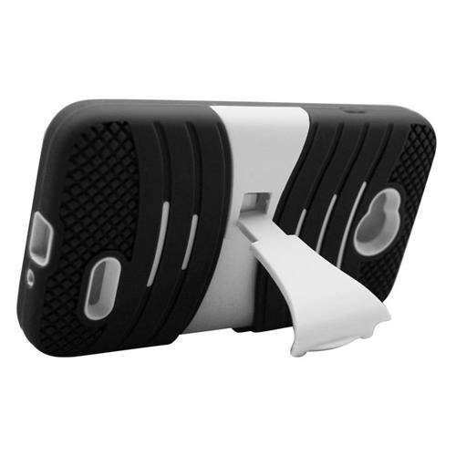 Insten Hybrid Case For LG Optimus L70 MS323/Realm LS620, Black/White
