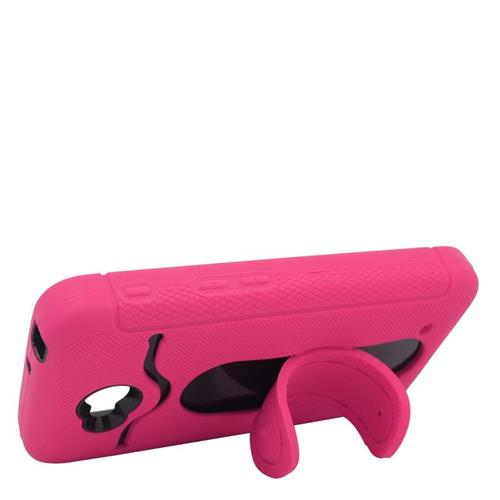 Insten Hybrid ID/Card Slot Case For LG Optimus L70 MS323/Realm LS620, Hot Pink/Black