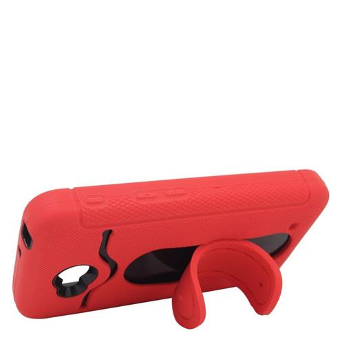 Insten Hybrid ID/Card Slot Case For LG Optimus L70 MS323/Realm LS620, Red/Black